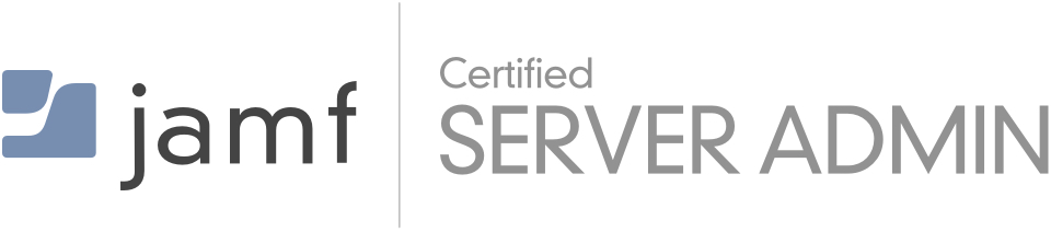 Jamf Certified Server Admin color